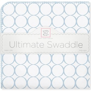 Фланелевая пеленка SwaddleDesigns для новорожденного Ultimate Blue Mod on WH (SD-022PB) фланелевая пеленка swaddledesigns для новорожденного pink chickies sd 162p
