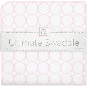 Фланелевая пеленка SwaddleDesigns для новорожденного Pink Mod on WH (SD-022PP) фланелевая пеленка swaddledesigns для новорожденного pink chickies sd 162p