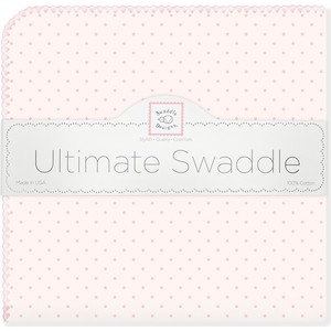 Фланелевая пеленка SwaddleDesigns для новорожденного Pink w/Pink Dot (SD-048PP) ample pink