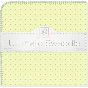 Фланелевая пеленка SwaddleDesigns для новорожденного Kiwi w/Kiwi Dot (SD-048KW) фланелевая пеленка swaddledesigns для новорожденного pstl pink dot sd 001pp