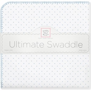 Фланелевая пеленка SwaddleDesigns для новорожденного Pstl Blue Dot (SD-001PB) swaddledesigns пеленка фланелевая bt blue polka dot