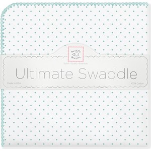 Фланелевая пеленка SwaddleDesigns для новорожденного SeaCrystal Dot (SD-001SC) фланелевая пеленка swaddledesigns для новорожденного yw big dot lt dot sd 492y