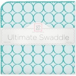 Фланелевая пеленка SwaddleDesigns для новорожденного Кружки -бирюза (SD-400TQ)