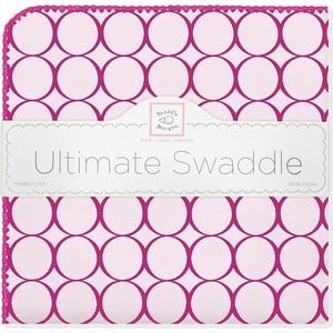 Фланелевая пеленка SwaddleDesigns для новорожденного Кружки - фуксия (SD-400VB) shagovita фуксия