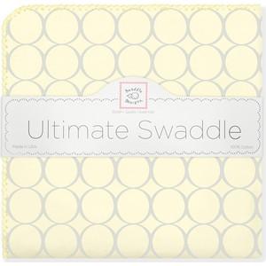 Фланелевая пеленка SwaddleDesigns для новорожденного Пастель круги желтая (SD-350SY)