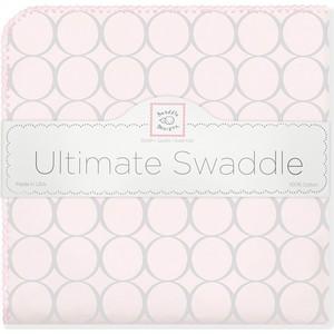 Фланелевая пеленка SwaddleDesigns для новорожденного Пастель круги розовая (SD-350SP) фланелевая пеленка swaddledesigns для новорожденного pink chickies sd 162p