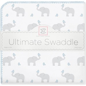 Фланелевая пеленка SwaddleDesigns для новорожденного PB Elephants/Chicks (SD-460PB) фланелевая пеленка swaddledesigns для новорожденного pb elephants chicks sd 460pb