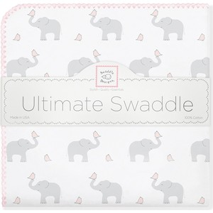 Фланелевая пеленка SwaddleDesigns для новорожденного PP Elephants/Chicks (SD-460PP) фланелевая пеленка swaddledesigns для новорожденного pb elephants chicks sd 460pb
