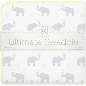 Фланелевая пеленка SwaddleDesigns для новорожденного PY Elephants/Chicks (SD-460PY) фланелевая пеленка swaddledesigns для новорожденного pb elephants chicks sd 460pb