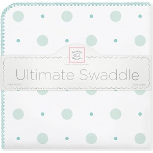 Фланелевая пеленка SwaddleDesigns для новорожденного SC Big Dot Lt Dot (SD-492SC) swaddledesigns пеленка фланелевая bt blue polka dot