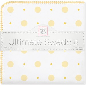 Фланелевая пеленка SwaddleDesigns для новорожденного YW Big Dot Lt Dot (SD-492Y) swaddledesigns пеленка фланелевая bt blue polka dot