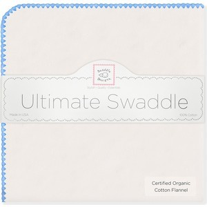 Фланелевая пеленка SwaddleDesigns Organic Natural w/Blue (SD-004B)