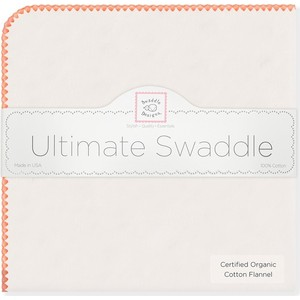 Фланелевая пеленка SwaddleDesigns Organic Orange Edge (SD-004O)