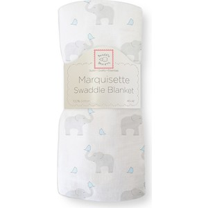 Пеленка детская тонкая SwaddleDesigns Маркизет PB Elephant/Chickies (SD-458PB) фланелевая пеленка swaddledesigns дл�� новорожденного bt blue polka dot sd 001b