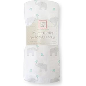 Пеленка детская тонкая SwaddleDesigns Маркизет SC Elephant/Chickies (SD-458SC) пеленка детская тонкая swaddledesigns маркизет sc elephant chickies sd 458sc