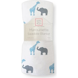 Пеленка детская тонкая SwaddleDesigns Маркизет B Giraffe/Elephant (SD-456B) hot sale cute dolls 60cm oblong animals pillow panda stuffed nanoparticle elephant plush toys rabbit cushion birthday gift