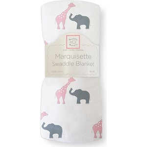 Пеленка детская тонкая SwaddleDesigns Маркизет P Giraffe/Elephant (SD-456P)