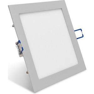 Светодиодный встраиваемый ультратонкий светильник Estares DL-10-200x200 Silver холодный белый