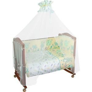 Борт в кроватку Сонный Гномик Акварель Бирюзовый (БСА-0341106/3)