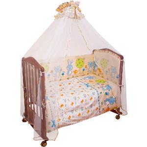 Борт в кроватку Сонный Гномик Акварель Голубой (БСА-0341106/1)