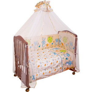 Борт в кроватку Сонный Гномик Акварель Голубой (БСА-0341106/1) борт в кроватку сонный гномик считалочка бежевый бсс 0358105 4