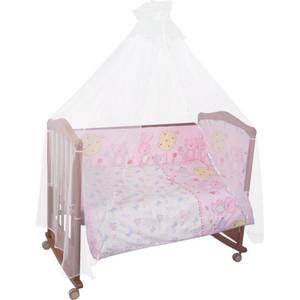 Борт в кроватку Сонный Гномик Акварель Розовый (БСА-0341106/2)