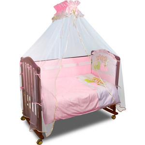 Борт в кроватку Сонный Гномик Пуговки Розовый (БСП-0355165/2)