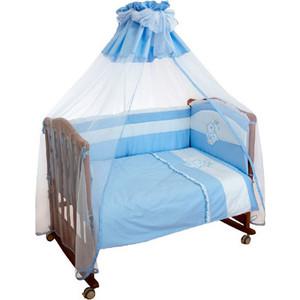 Борт в кроватку Сонный Гномик Пушистик Голубой (БСП-0356110/1)