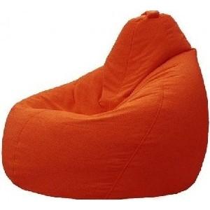 Кресло-мешок POOFF Груша оранжевый (велюр)