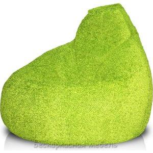 где купить Кресло-мешок POOFF Груша велюр светло зеленый дешево