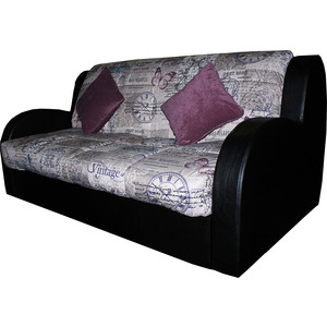 все цены на  Диван ИП Панин Омега-2(120) porter violet, мэри 01, sontex black  онлайн