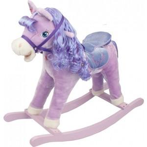 все цены на Качалка Pituso Лошадка плюшевая музыкальная фиолетовая онлайн