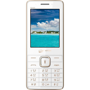 Мобильный телефон Micromax X2401 White Champagne (2 SIM) смартфон micromax q4260 canvas juice a1 plus 4g 16gb champagne