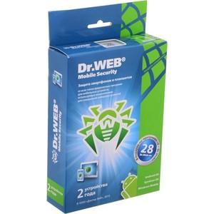 Программный продукт Dr.Web Антивирус DR.Web Mobile Security 2 устройства/2 года (BHM - AA - 24M - 2 - A3)