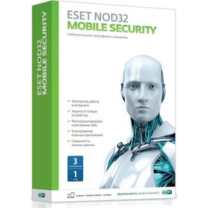 Антивирус ESET NOD32 Mobile Security 3 устройства/1 год (NOD32-ENM2-NS(BOX)-1-1 ) по для сервиса м видео office 365 eset nod32 антивирус 1устр 1 год