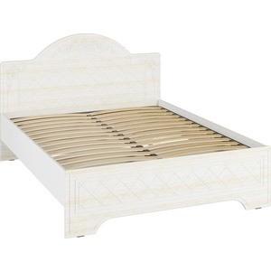 Кровать Compass СО-1 Премиум 160х200 белый струк ясень патина стеллаж compass со 13 премиум правый глухой белый струк ясень патина