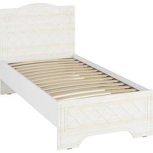 Кровать Compass СО-2 Премиум 100х200 белый струк ясень патина кровать соня 100х200