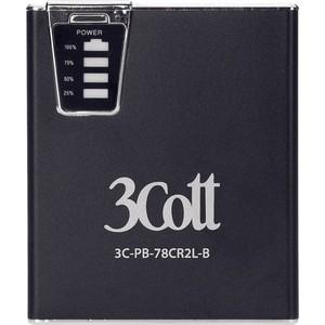 Внешний аккумулятор 3Cott 7800 mAh с картридером и двойным светодиодным фонариком (3C-PB-78CR2L-B)