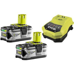 Зарядное устройство Ryobi RBC18LL50 с 2 аккумуляторами 18В 5Ач Li-ion One+ (3002481)