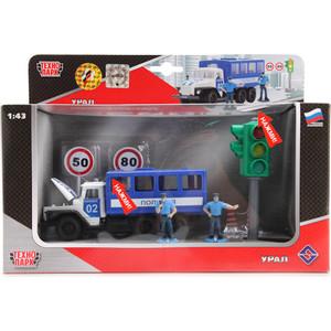 Игровой набор Технопарк УРАЛ полиция со светофором с фигурками (CT10-104-TL)