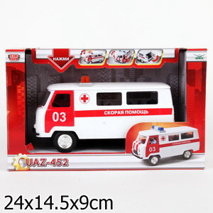 Машинка Технопарк УАЗ 452 скорая помощь (CT12-427-1)