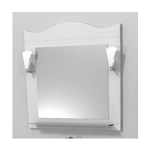 Зеркало Меркана Венеция 65см, декор белый, светильник (27407)