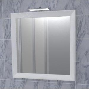 Зеркало Меркана Торнадо 65см,белый декор,светильник (27589)