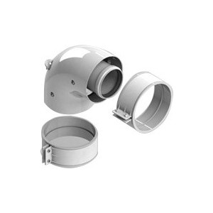 Адаптер-отвод STOUT диаметр 60/100 для котла угловой 90 градусов коаксиальный (SCA-6010-210190) адаптер stout диаметр 60 100 для котла вертикальный коаксиальный sca 6010 230100