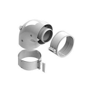 Адаптер-отвод STOUT диаметр 60/100 для котла угловой 90 градусов коаксиальный (SCA-6010-230190) адаптер stout диаметр 60 100 для котла вертикальный коаксиальный sca 6010 230100
