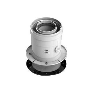 Адаптер-отвод STOUT диаметр 60/100 для котла вертикальный коаксиальный (SCA-6010-240100) адаптер stout диаметр 60 100 для котла вертикальный коаксиальный sca 6010 230100