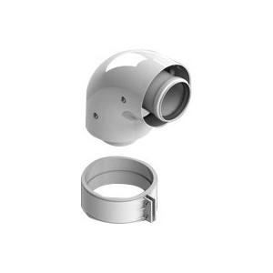 Отвод STOUT коаксиальный 90 градусов диаметр 60/100 п/м (SCA-6010-000090) адаптер stout диаметр 60 100 для котла вертикальный коаксиальный sca 6010 230100