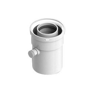Патрубок STOUT вертикальный диаметр 60/100 п/м для сбора и отвода конденсата (SCA-6010-000101) адаптер stout диаметр 60 100 для котла вертикальный коаксиальный sca 6010 230100