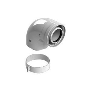 Отвод STOUT 90 градусов диаметр 60/100 м/п PP-FE с адаптером (совместим с Vaillant и Ariston) (SCA-8610-230090)