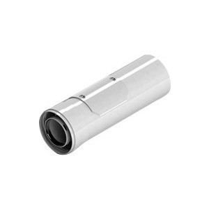 Труба STOUT диаметр 60/100 м/п PP-AL 310 мм с ревизией (SCA-8610-010310) отвод stout 90 градусов диаметр 60 100 м п pp fe с адаптером совместим с vaillant и ariston sca 8610 230090
